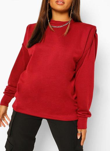 XHAN Haki Vatkalı Sweatshirt 1Kxk8-44260-09 Bordo